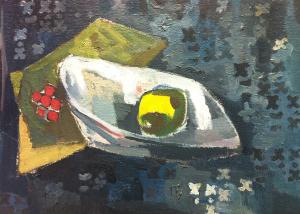 Ettore-Fico,-Natura-morta-con-limone,-1962