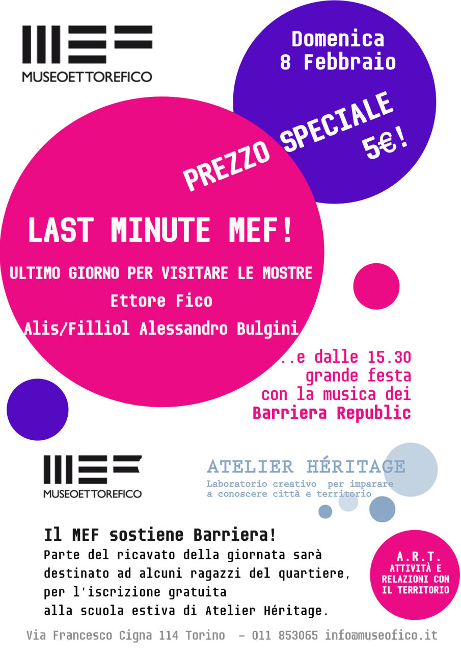 "Evento A.R.T ""LAST MINUTE MEF"""