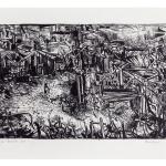 Ettore Fico, Baracche, 1971, litografia 500x700 mm, ed. 30 esemplari (€ 500 + spese di spedizione)