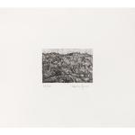Ettore Fico, Colline, 1990, acquaforte 296x344 mm, ed. 40 esemplari (€ 250 + spese di spedizione)