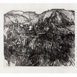 Ettore Fico, Grandi colline, 1967, acquaforte e puntasecca 490x700 mm, ed. 30 esemplari (€ 400 + spese di spedizione)