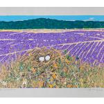 Ettore Fico, Lavanda, 2000, serigrafia 500x700 mm, P.A. (€ 250 + spese di spedizione)