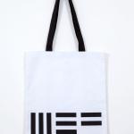 Shopper MEF bianca, cotone, 38x34 cm (€12 + spese di spedizione)