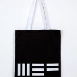 Shopper MEF nera, cotone, 38x34 cm (€12 + spese di spedizione)