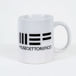 Tazza in ceramica stampata, Logo MEF, h 9,5 cm, diam. 8 cm (€ 12 + spedizione)