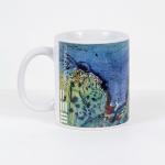 Tazza in ceramica stampata a 4 colori, Ettore Fico – Colline, h 9,5 cm, diam. 8 cm(€ 12 + spedizione)