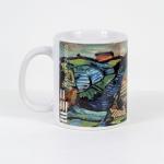 Tazza in ceramica stampata a 4 colori, Ettore Fico - Colline del Monferrato, h 9,5 cm, diam. 8 cm (€ 12 + spedizione)