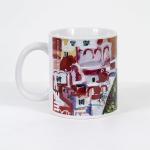Tazza in ceramica stampata a 4 colori, Ettore Fico - Positano, h 9,5 cm, diam. 8 cm (€ 12 + spedizione)