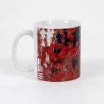 Tazza in ceramica stampata a 4 colori, Ettore Fico - Vite Vergine, h 9,5 cm, diam. 8 cm (€ 12 + spedizione)