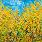 Foulard, Ettore Fico - Mimosa, twill 100% seta, 30x30 cm (€ 15), 90x90 cm (€ 55), 140x140 cm (€ 95) chiffon 100% seta, 140x140 cm (€ 95). Prezzi + spedizione