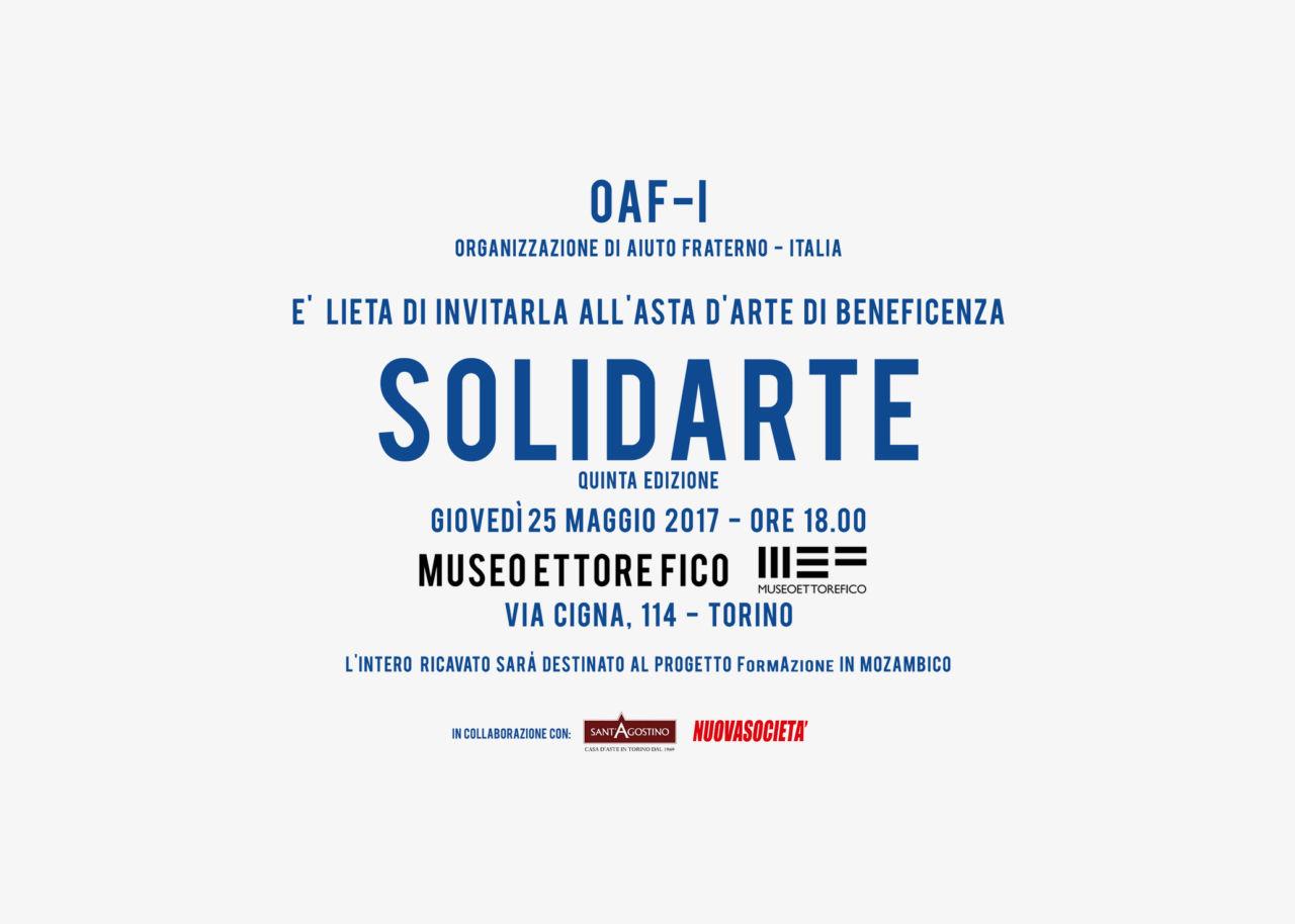 SolidArte  / 28 ARTISTI PER OAF-I E IL MOZAMBICO /  Asta d'arte di beneficenza